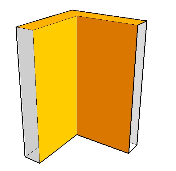 Graphic of corner piece (inside or outside corners)